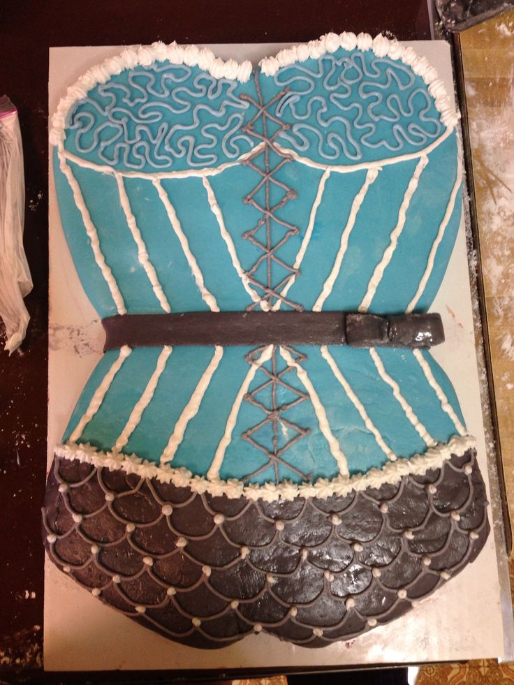 Corset Cake Made Out Of Two Heart Shaped Cake Pans My