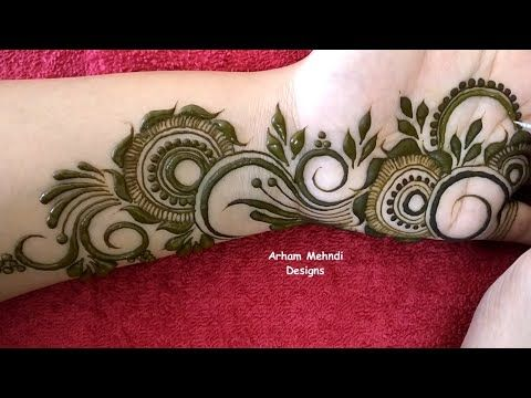 arham mehndi designs simple