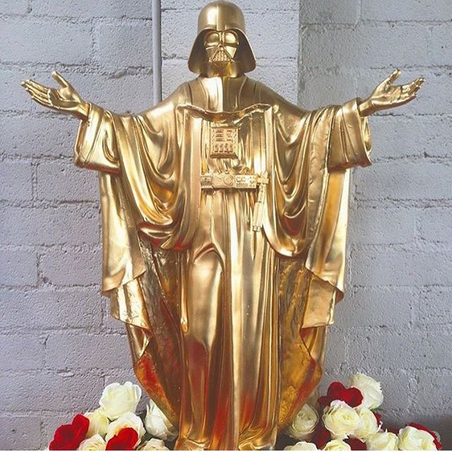 Darth Vader Statue by Sket One  #starwars #darthvader #sketone #blackbookgallery #roses #jedi