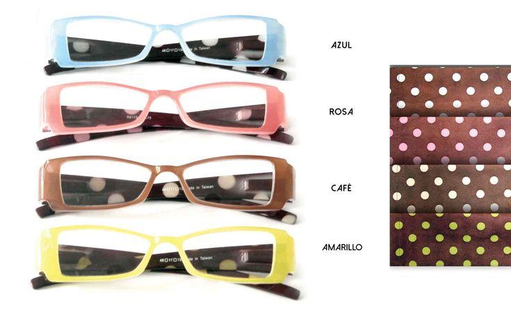 Coloridos lentes para vista cansada. www.diquesi.com.mx