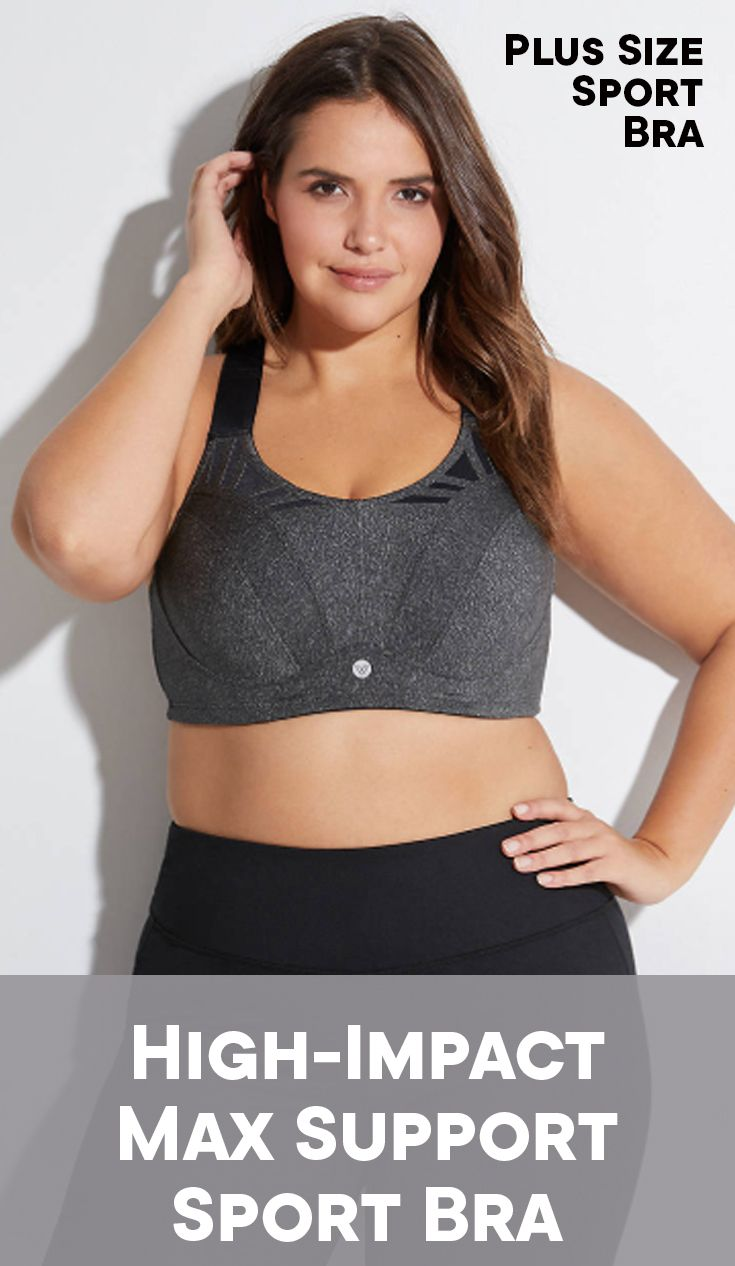 37f7fc074c9a0 Plus size high-impact max support sport bra. Your best bet for a bounce-free  workout. Designed for high-impact activities.  affiliate  plussize