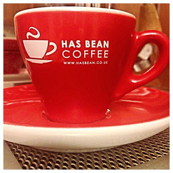 Has Bean espresso cup.