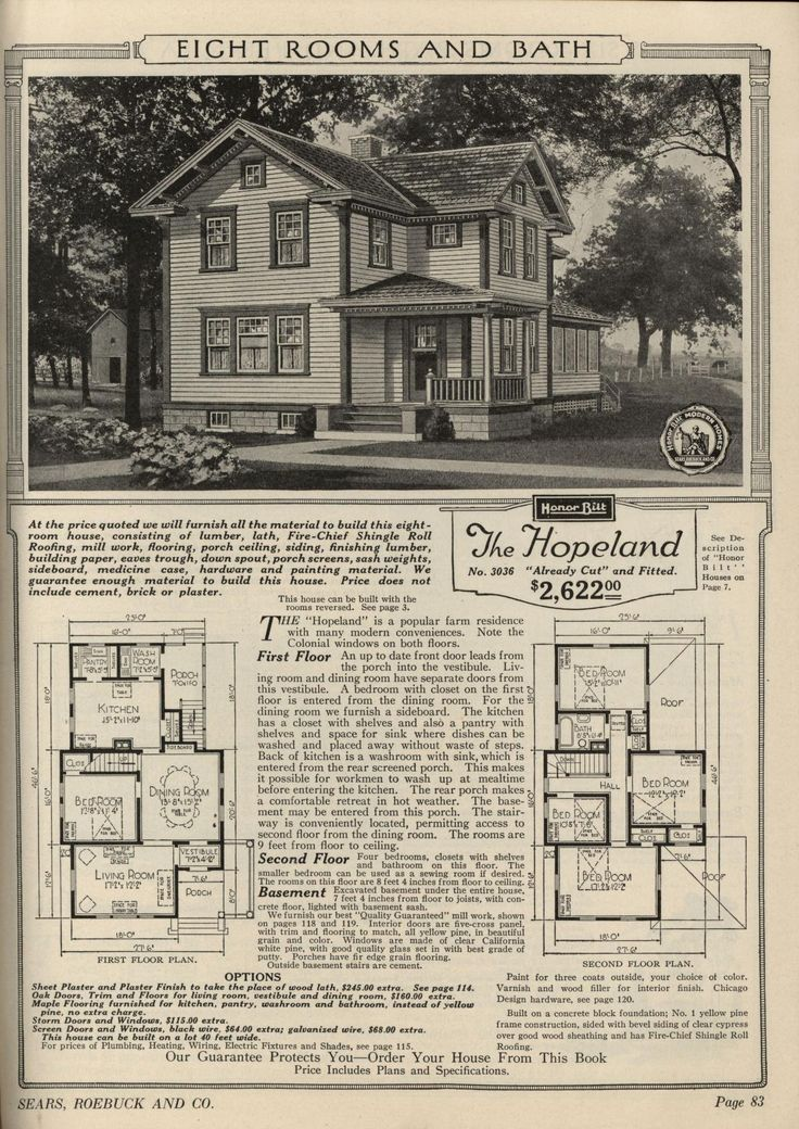 sears hopeland 1919 1920 19213036 19223036 victorian house plansvintage - 1919 House Plans