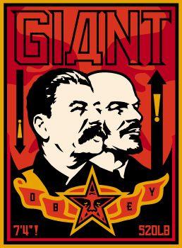 Stalin Lenin Banner Offset