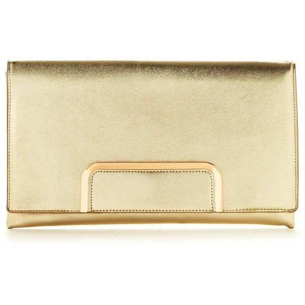 V By Very Metallic Clutch Bag (£14) ❤ liked on Polyvore featuring bags, handbags, clutches, metallic clutches, metallic purse, beige handbags, beige clutches and beige purse