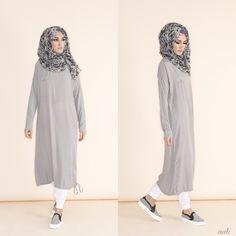rriving this week - Casual Midi Grey Pair with Blue Venezia Chiffon Hijab &…