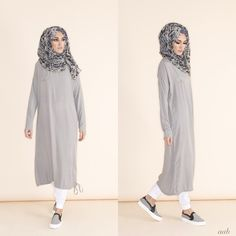 rriving this week - Casual Midi Grey Pair with Blue Venezia Chiffon Hijab &…