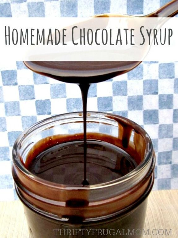 Healthier than store bought, this easy to make homemade chocolate syrup is made with simple, real ingredients. It's delicious in milk or on ice cream!