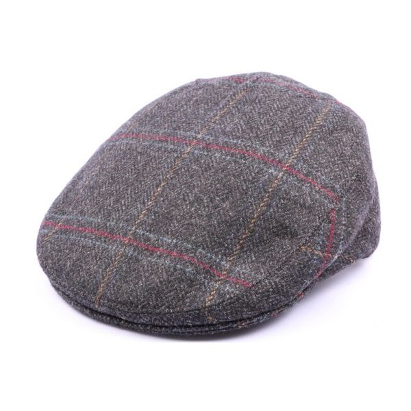 Casquette Plate Hereford Tweed gris bleu taille 57 #casquette #mode #homme #fashion #chic #british
