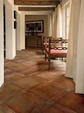Saltillo tiles instead of wood?  I could do this pattern in stained concrete, DIY project and save $10-15K.: