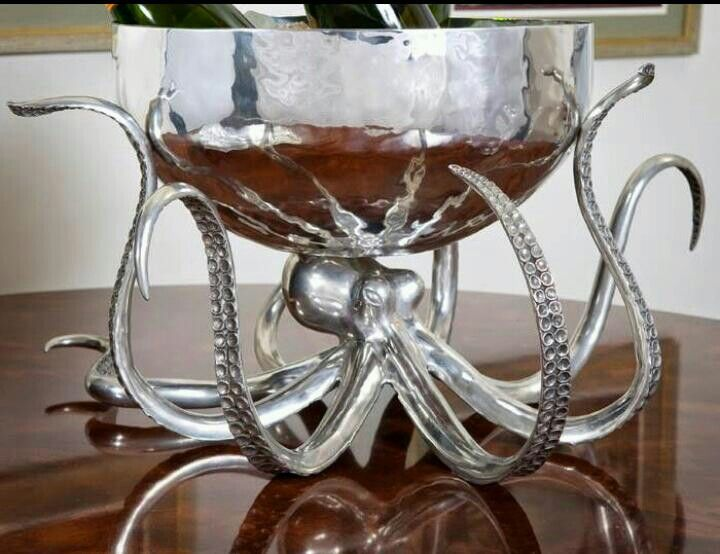 Octopus punch bowl