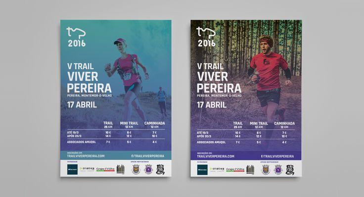 Poster design for Trail Viver Pereira.