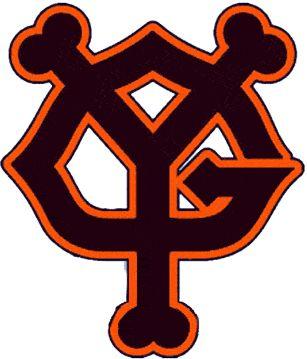 Yomiuri Giants Alternate Logo (1947) - An interlocking Y and G in black and orange