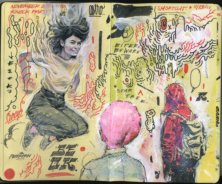 The Vivid Spots, Swirls And Girls of Andres Guzman | Beautiful/Decay Artist & Design