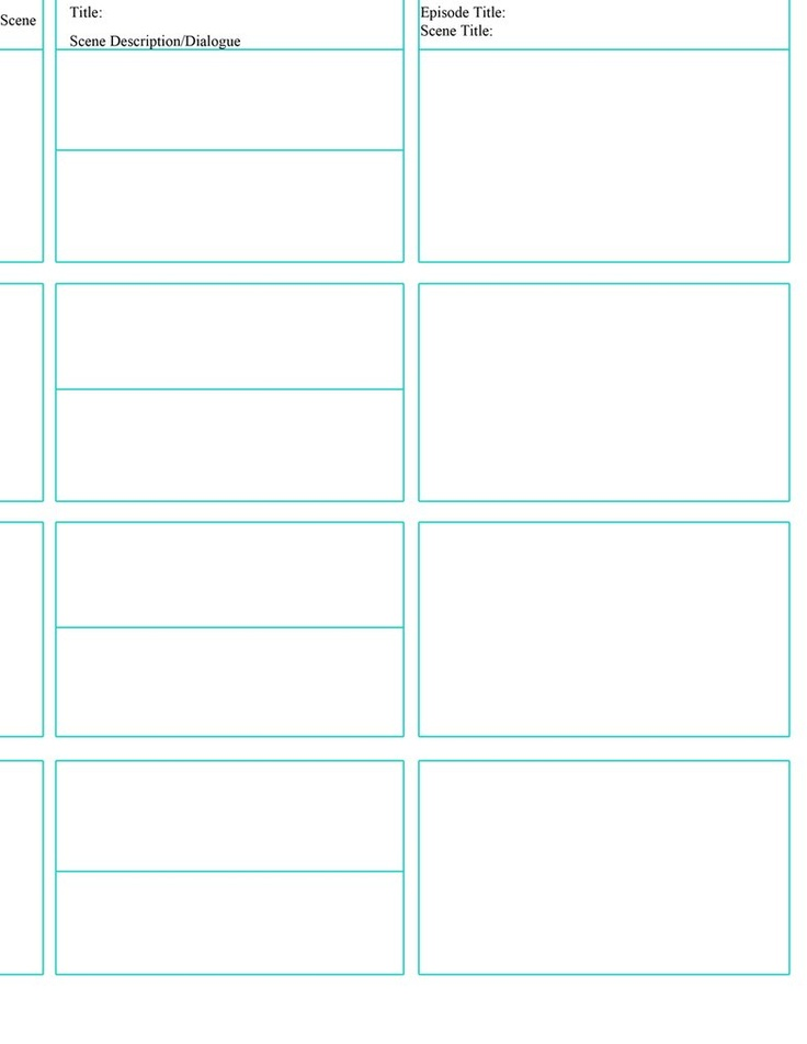 12 Best Storyboard Templates Images On Pinterest Role Models
