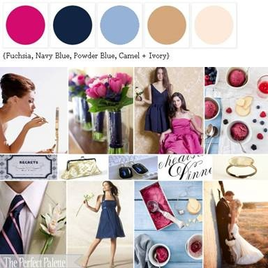 love this pallette: navy, pink and powder blue