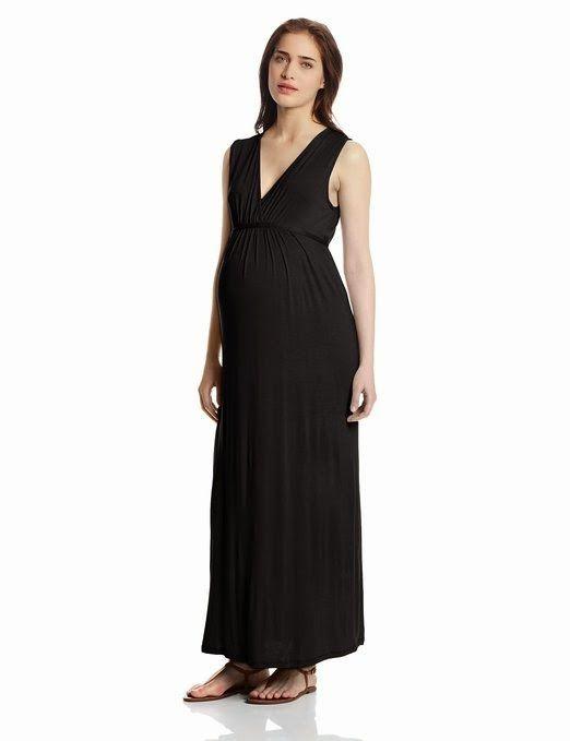 black maxi dress: black maternity maxi dress