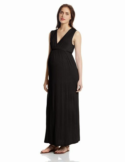 black maxi dress: black maternity maxi dress