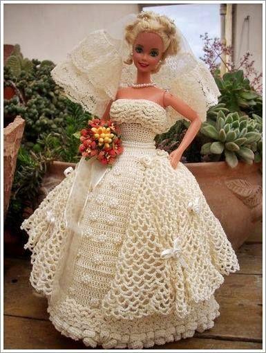 Barbie Wedding Gown ~ Crochet