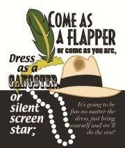 Cute and clever wording for a Roaring 20's theme party. That way people can dress up if they want or feel comfortable if they don't.