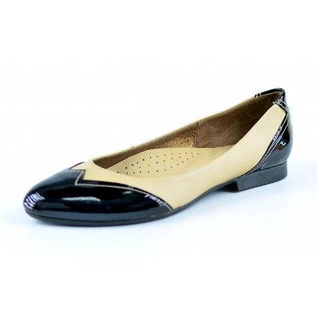 Ladies leather ballerina