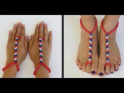 Advanced Rainbow Loom Barefoot Sandals Tutorial