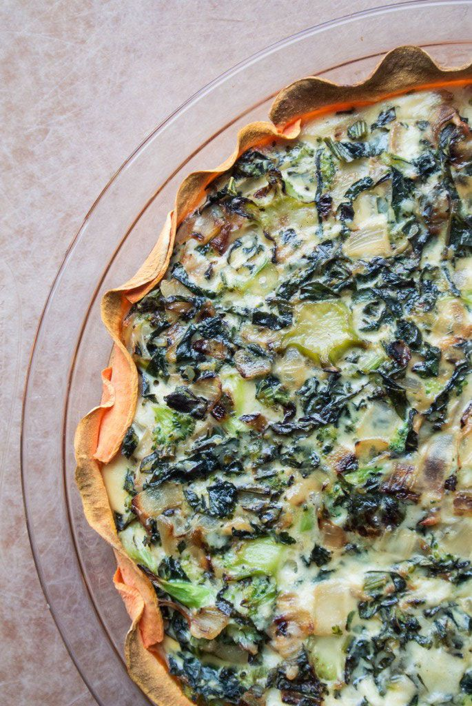 15. Kale and Egg Quiche With Sweet Potato Crust #whole30 #paleo #breakfast…