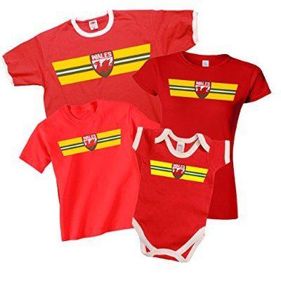 WALES Euro 2016 Retro Strip T-Shirt *Choice Of MENS LADIES KIDS BABY GROW*