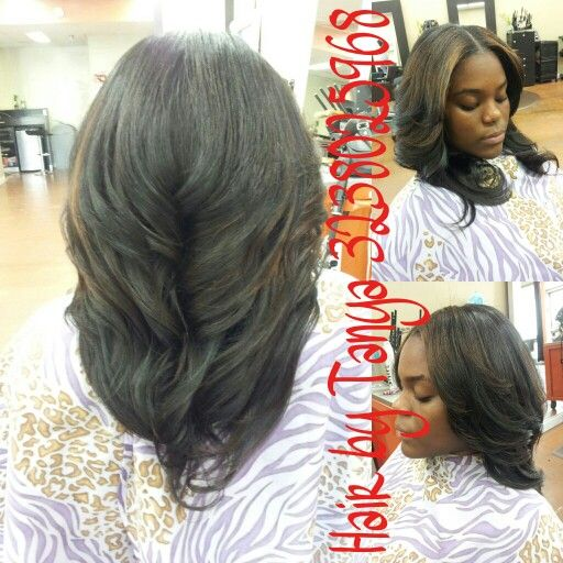 17 best partial weaves images on pinterest hair coloring hair partial sewed in weave with middle part pmusecretfo Gallery