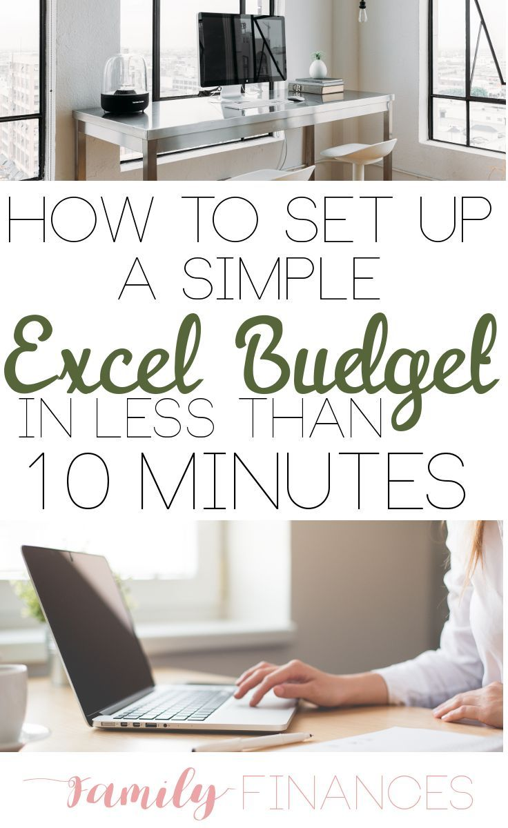 set up a budget in excel