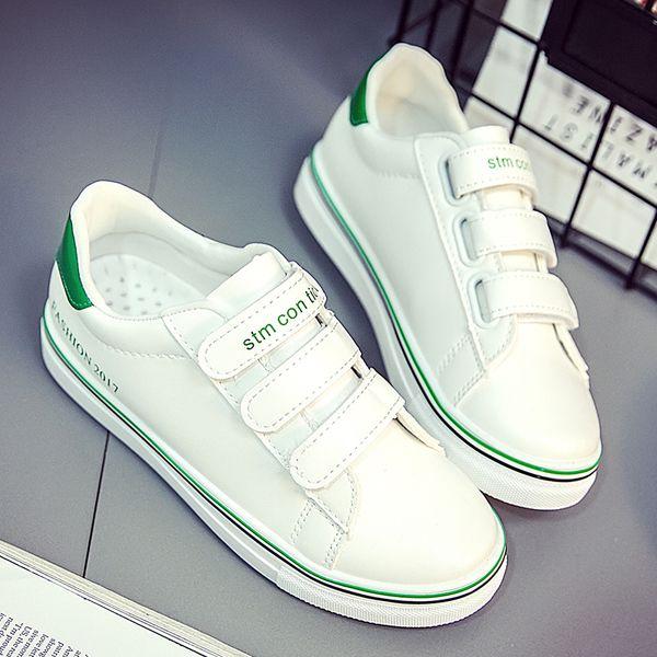 Paste летняя обувь женская звезда диких холст обувь женщин микрофибра кожа липучки обувь студент обувь прилива