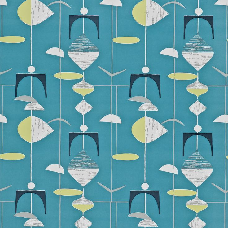 Mobiles Wallpaper | 50's Wallpaper Collection | Sanderson Wallpaper