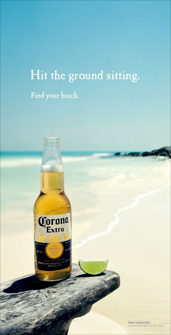 39 best corona images on pinterest crowns beer and corona beer corona find your beach print ad aloadofball Choice Image