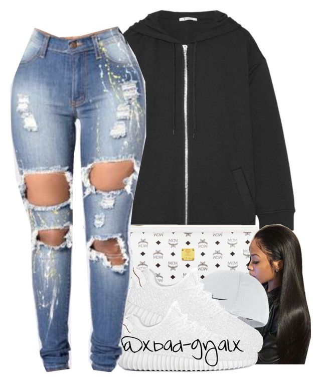 """Draft"" by xbad-gyalx ❤ liked on Polyvore featuring T By Alexander Wang, MCM and NIKE"