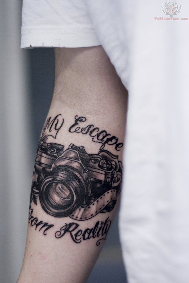 Now thats dedication and passion My Escape From Reality - Camera Tattoo
