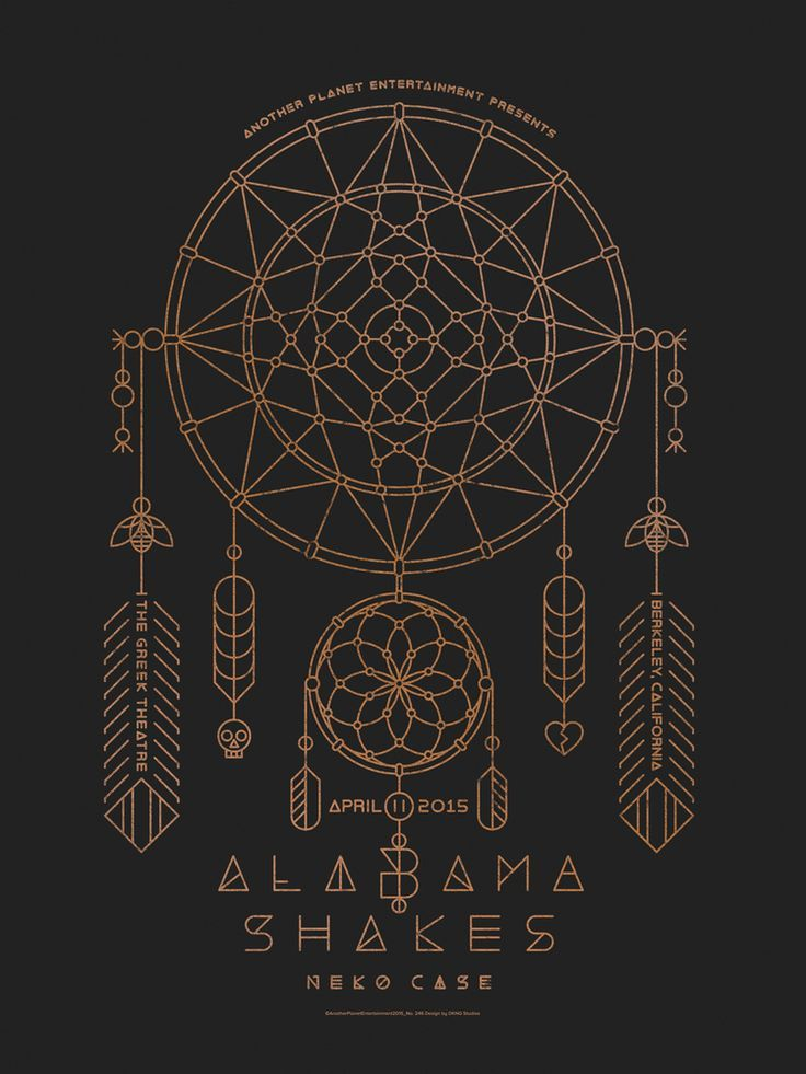 Alabama Shakes Poster by DKNG