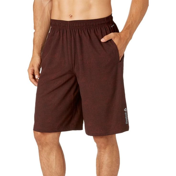 Reebok Men's Printed Woven Shorts, Size: Medium, Canvas Print Burnt Sienna