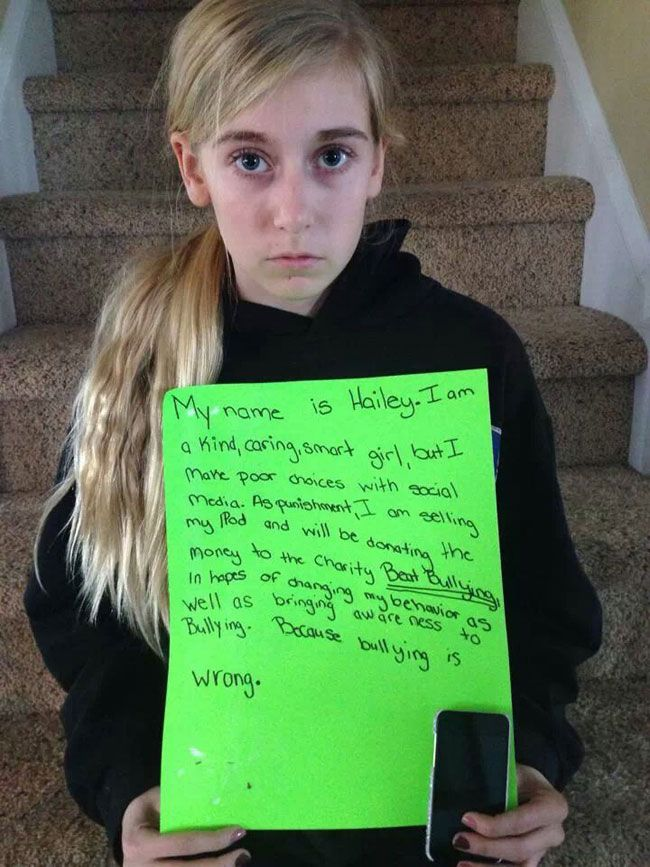 Mom Catches Daughter Cyber-Bullying. This Is What She Got As A Punishment… Parenting done right