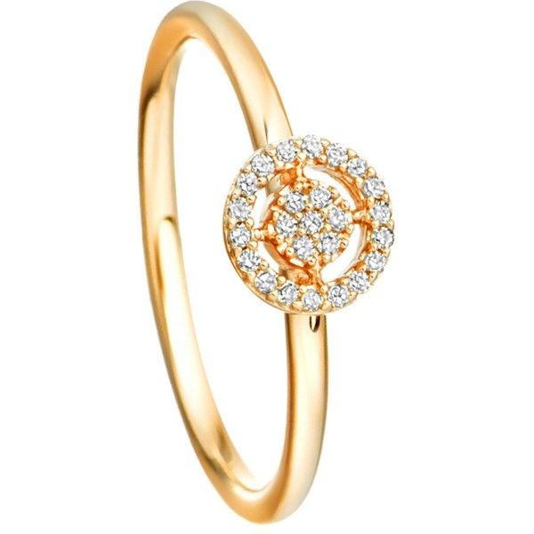 Astley Clarke Mini Icon Aura 14ct yellow-gold and diamond ring ($500) ❤ liked on Polyvore featuring jewelry, rings, pave diamond ring, yellow gold diamond rings, circle diamond ring, blue diamond jewelry and gold rings