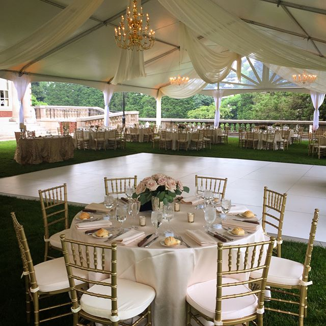 'Thankfully the skies cleared up for our wedding on FDU's campus. Our draping and lighting softened the beautiful new tent provided by @apartypleasing. Our white dance floor completed the look. Floral @conroysflorist #tentwedding #tentrental #tentdraping #tentlighting #weddinglighting #eventlighting #weddingdraping #whitedancefloor #dancefloorrental #summerwedding #hotdays #wedding #weddinginspo #eventprofs #chiavarichair #classicwedding #roses #barrental #fairleighdicksonuniversity' by…