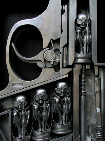 """Gun"", by Swiss surrealist painter, sculptor, and set designer Hans Rudolf ""Ruedi"""