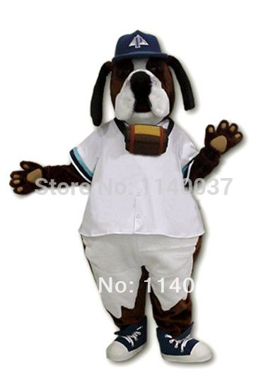 ==> [Free Shipping] Buy Best mascot Cool White Coate St. Bernard Dog Mascot Costume Advertising Brown Dog Mascotte Outfit Suit Cosply Carnival Costume Online with LOWEST Price | 1703066642