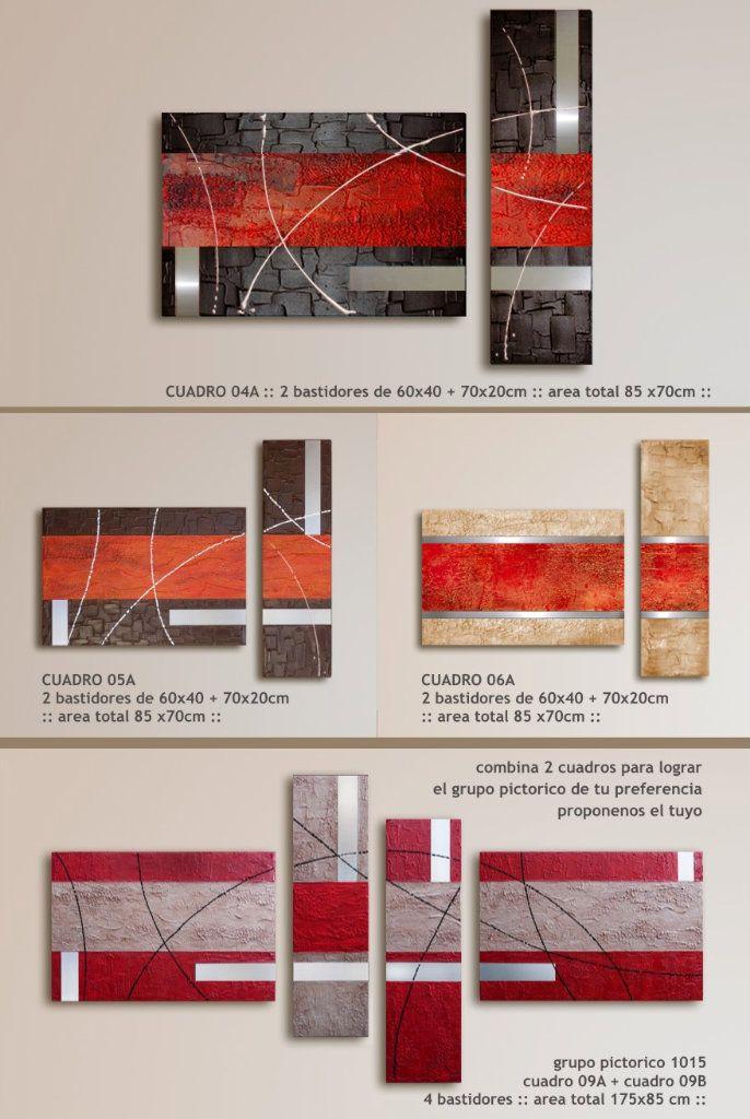 Cuadro Abstracto Arte 100% Original Metal + Textura + Color - $ 1.200,00 en MercadoLibre