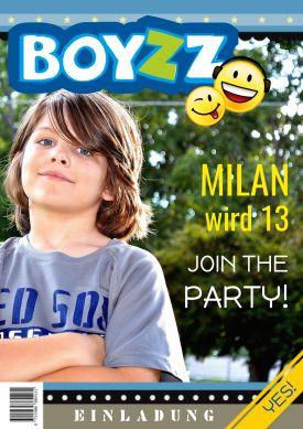 Coole Einladung Zum 13. Geburtstag In Trendy Zeitschriften Look Mit Foto