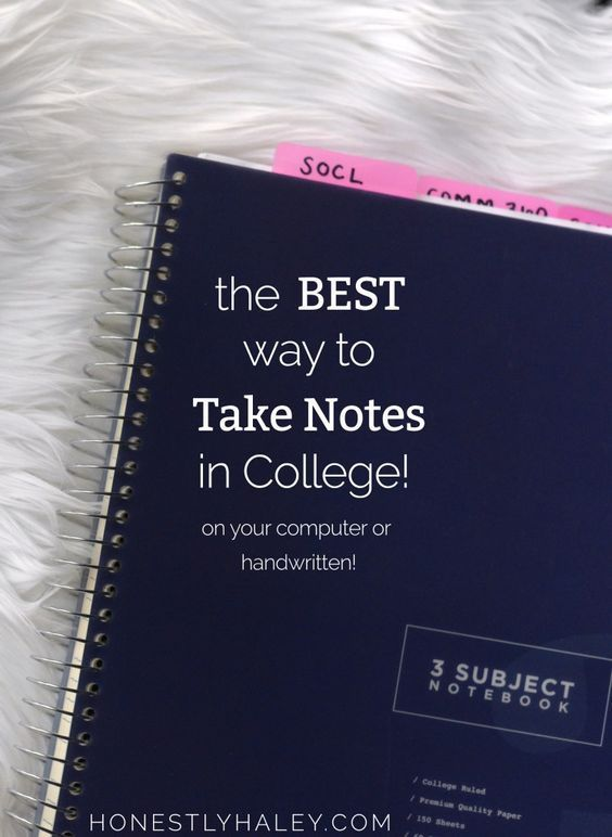 How to take notes in college