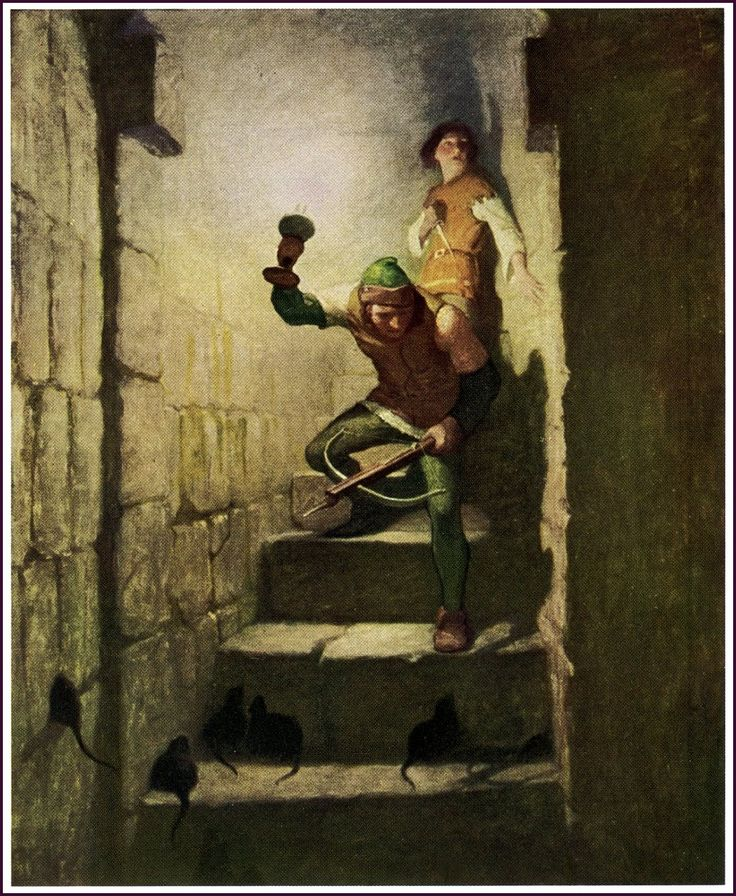 "NC Wyeth illustration from Stevenson's ""The Black Arrow"""