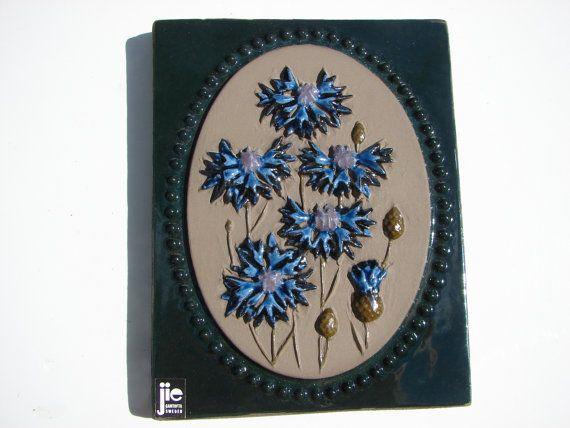 Original Vintage Jie Gantofta Tile  /   Floral  Wall by Luckytage, €11.90
