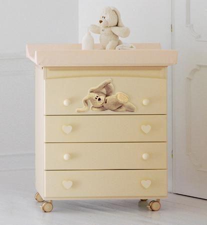 Baby Expert Пеленальный комод Cremino by Trudi крем  — 52560р. - Пеленальный комод Cremino крем