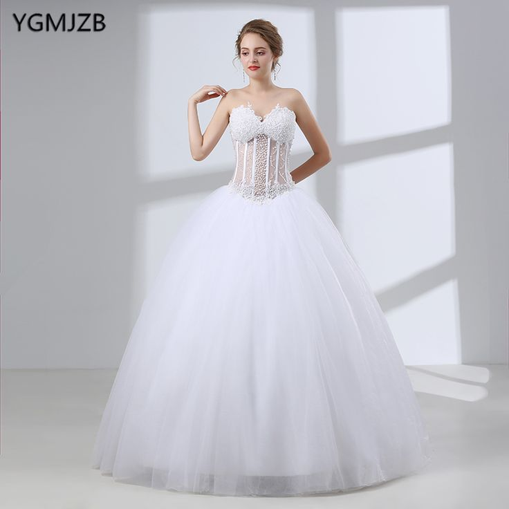 Find More Wedding Dresses Information about Elegant White Ball Gown Wedding Dresses 2018 Sweetheart Beaded Plus Size Long Wedding Gown Illusion Bridal Gown Vestido De Noiva,High Quality vestido de noiva,China vestido de noiva plus Suppliers, Cheap de noiva from Shop1404230 Store on Aliexpress.com