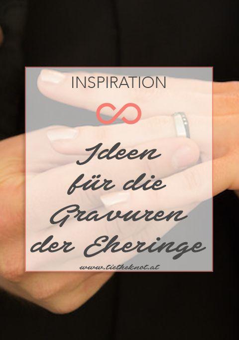 Wir haben euch die schönsten Gravur-Ideen für die Eheringe zusammengefasst. #hochzeit #heirat